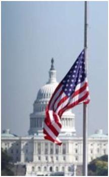 half-mast, US flag